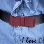 DIY une ceinture noeud façon cuir ! DIY a leather like bow belt !