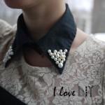 DIY un col perlé ! DIY pearled collar !