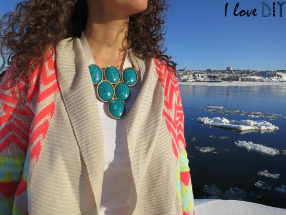 collier plastron i love diy