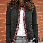 DIY un gilet recyclé avec du tartan ! DIY recycle your cardigan with tartan !