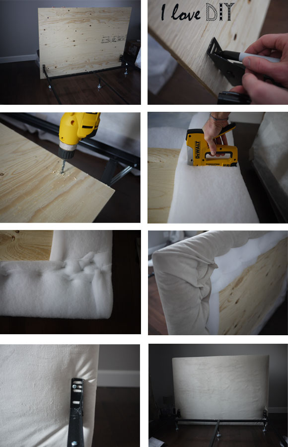 Diy bed headboard for Tete de lit miroir