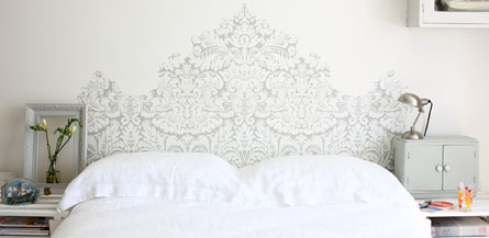 diy inspiration t te de lit papier peint wallpaper bedhead blog mode bon plans et diy. Black Bedroom Furniture Sets. Home Design Ideas