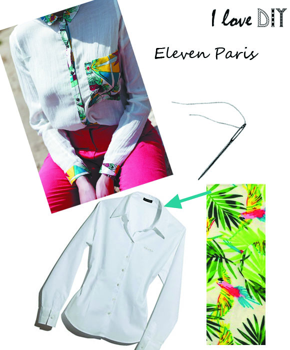 Chemise ELEVEN PARIS Inspiration I love DIY