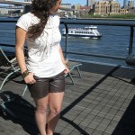 DIY : Short en cuir ou comment recycler un pantalon en cuir | Leather shorts or how to recycle a leather pants