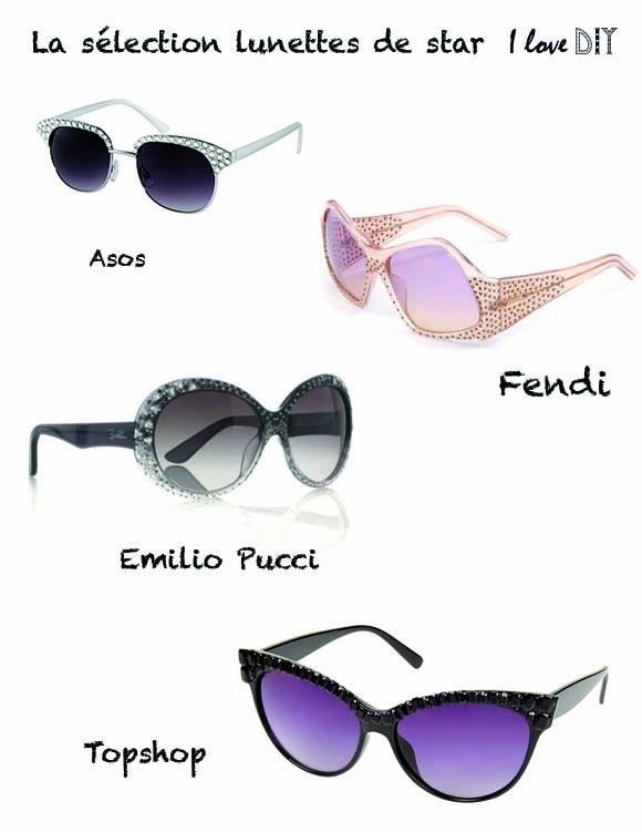 Selection lunettes de stars I LOVE DIY