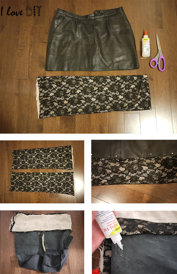 Diy rallonger une jupe trop courte add some length to a short skirt blog mode bon plans - Comment couper un pantalon en short ...