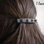 DIY : une barrette pour les cheveux Rock | a rock hair clip