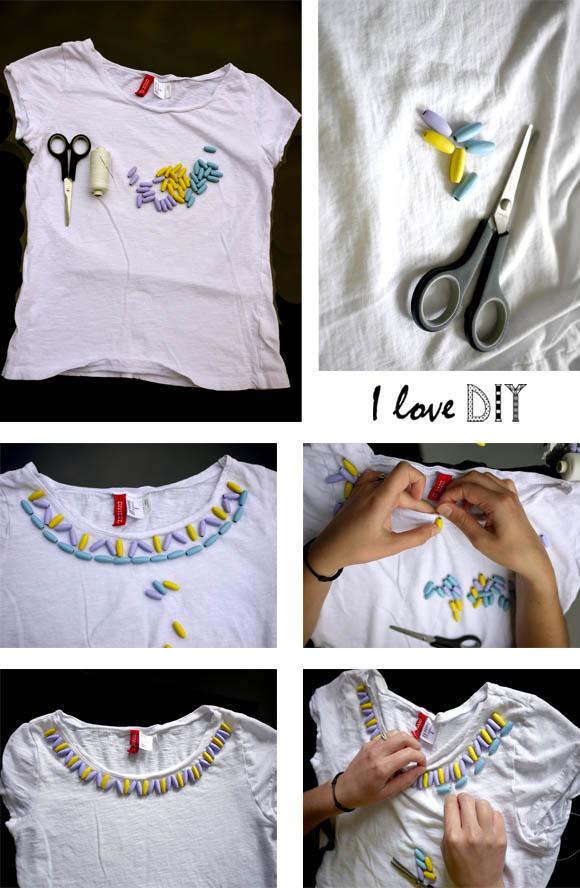 DIY un tee shirt ethnic