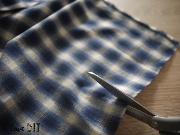 couper le tissu