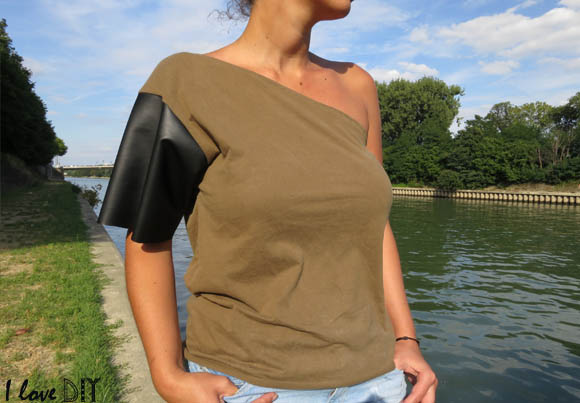 i love mon nouveau tee shirt diy asymetric