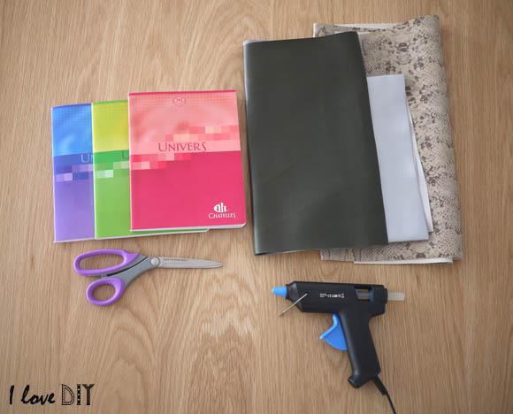 materiel pour creer ses cahiers DIY