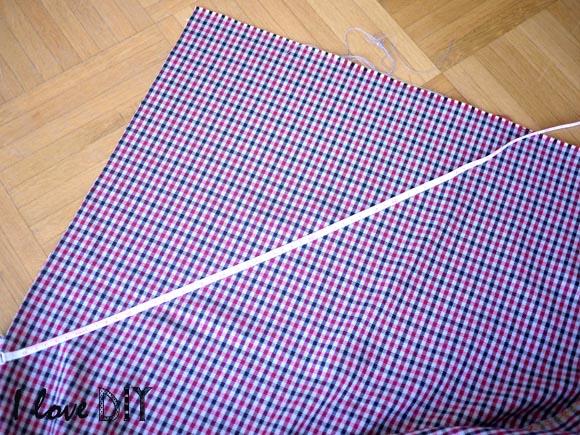2 couper dans l angle du tissu