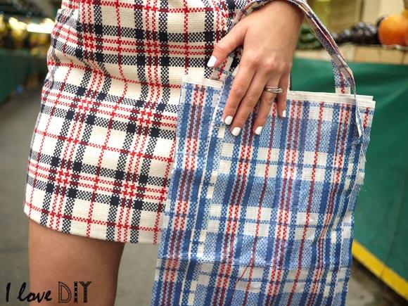 DIY un sac celine imprime barbes