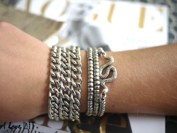 bracelet serpent argente diy