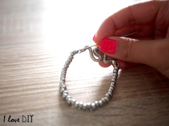 cacher le noeud dans la perle suivante