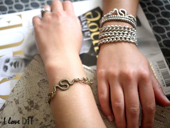 la version bronze et argente du bracelet serpent I LOVE DIY