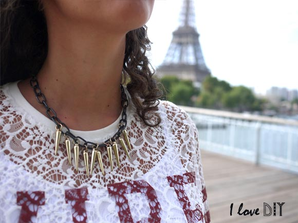 la version doree du collier diy spiky