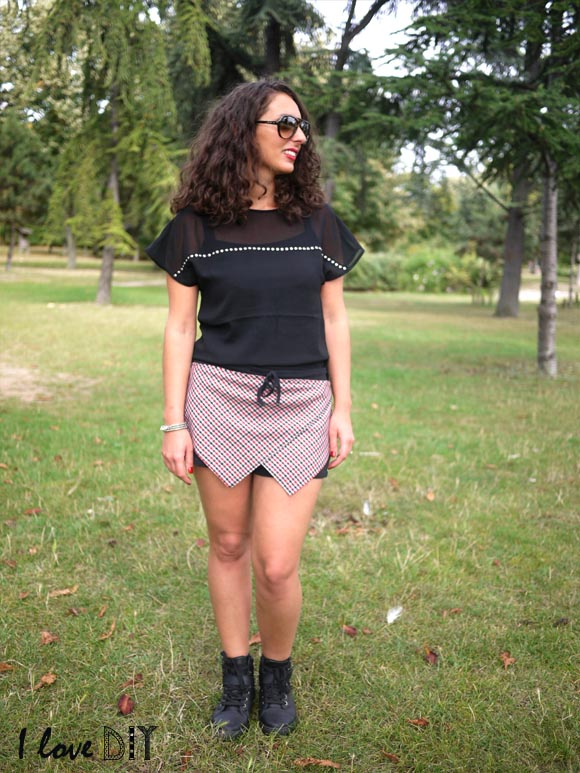 outfit of the day short origami diy et top h&m