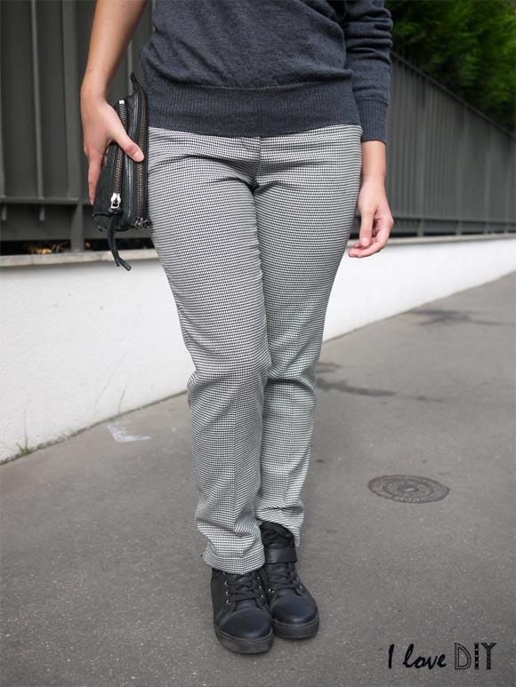 pantalon pied de poule monoprix