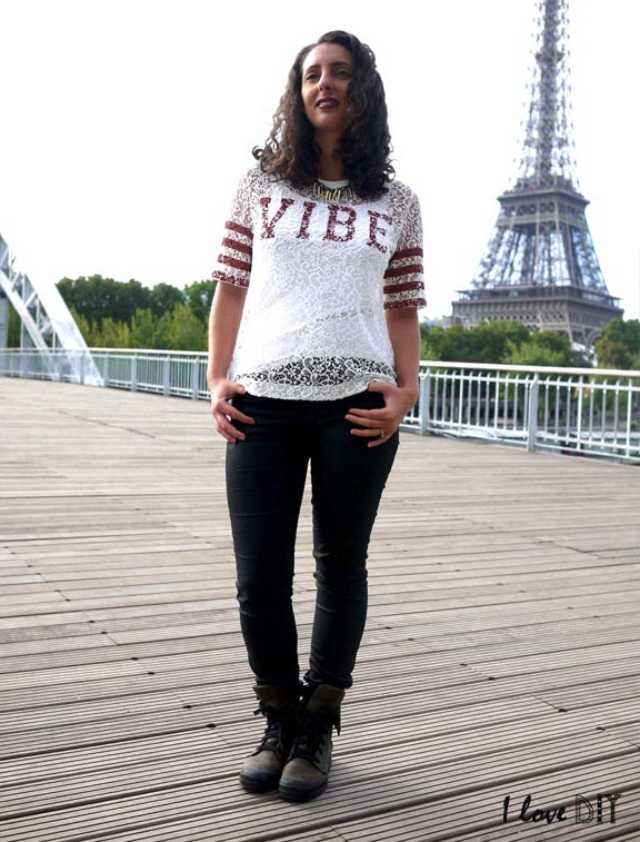 tenue du jour palladium tee shirt zara et collier diy