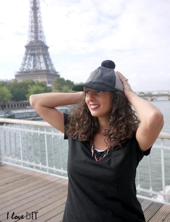 version rose pour mon collier et casquette DIY