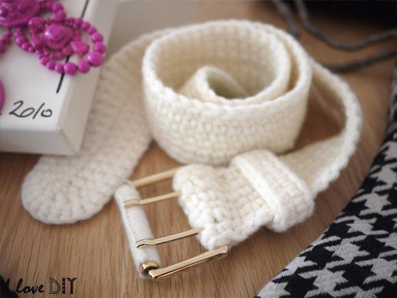 ceinture tricote benetton vide grenier i love diy