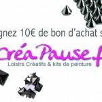 Concours : Gagnez 10€ de bon d'achat sur Créapause