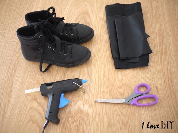 le materiel pour creer ses sneakers camelia