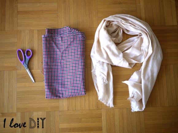 le materiel pour vous creer une écharpe DIY