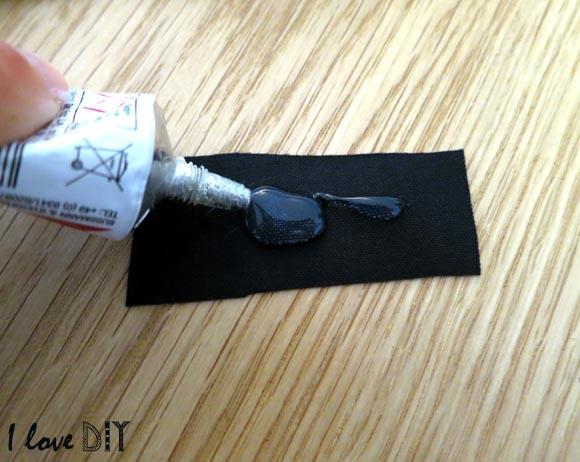 mettre de la colle sur du cuir pour proteger l'interieur