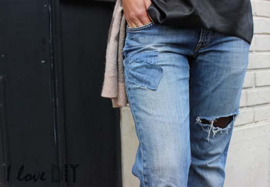 mon nouveau jeans DIY