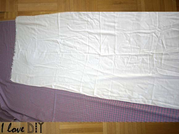 placer votre echarpe préférée sur le tissu