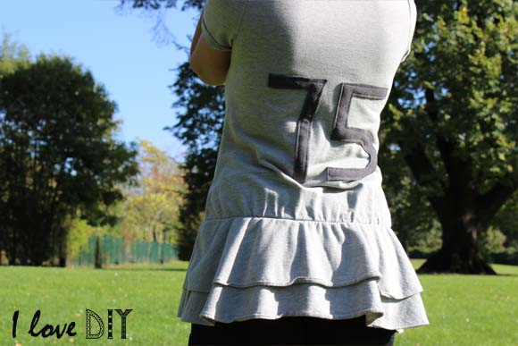 sweat a numero dans le dos DIY ilovedoityourself