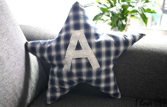 DIY un coussin étoile pour enfant personnalisé ilovedoityourself