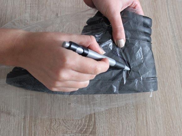 dessiner des formes a l aide de plastique