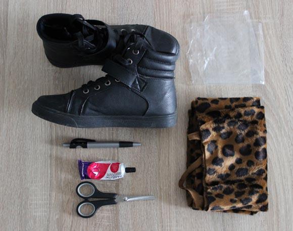 materiel pour customiser des baskets noires toutes simples ilovediy