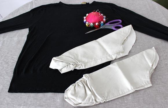 DIY un pull avec des manches en cuir