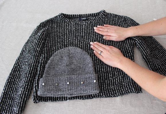 diy fabriquez des gants et un bonnet sans tricoter make a beanie and mitten without knitting. Black Bedroom Furniture Sets. Home Design Ideas