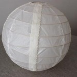 DIY : Customisation de boule japonaise round 3 en version dentelle | Customization of the Japanese lamp round 3 for a lace version
