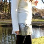 DIY : une jupe argentée pour les fêtes | Silver skirt for Seasons greettings