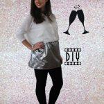 3 jours 3 tenues de Réveillon mini prix : Round 3 la jupe argent DIY