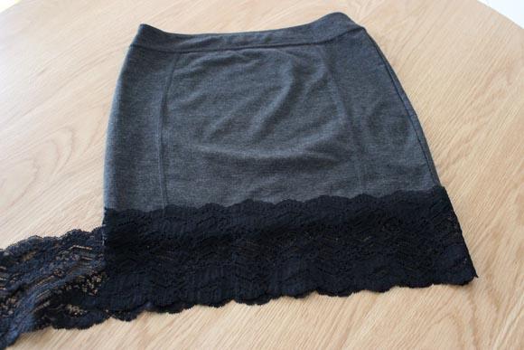 DIY customisez une jupe avec de la dentelle ILOVEDIY2