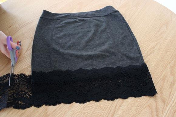 DIY customisez une jupe avec de la dentelle ILOVEDIY3