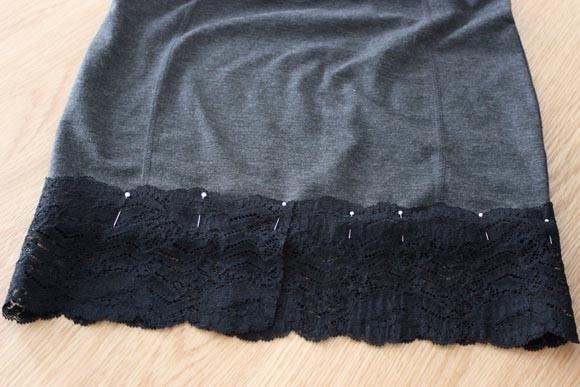 DIY customisez une jupe avec de la dentelle ILOVEDIY5