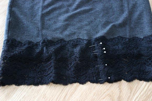 DIY customisez une jupe avec de la dentelle ILOVEDIY7