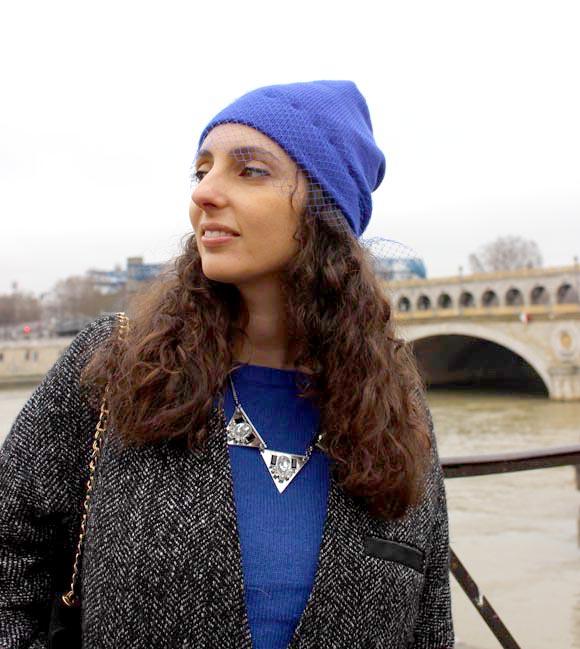 bonnet voilette DIY collier IAM pull pimkie copie