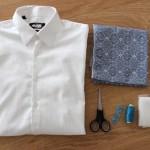 DIY Idée cadeau Saint -Valentin : Relookez une chemise d'homme  | Present idea DIY for Valentine's day : Make-over a man's shirt