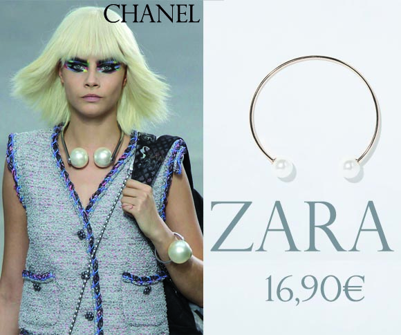 chanel versus zara le collier chocker