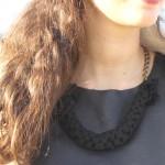 DIY : Collier scoubidou en tissu | Fabric scoubidou necklace