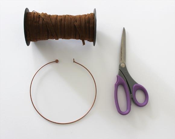 materiel pour créer un collier frangé